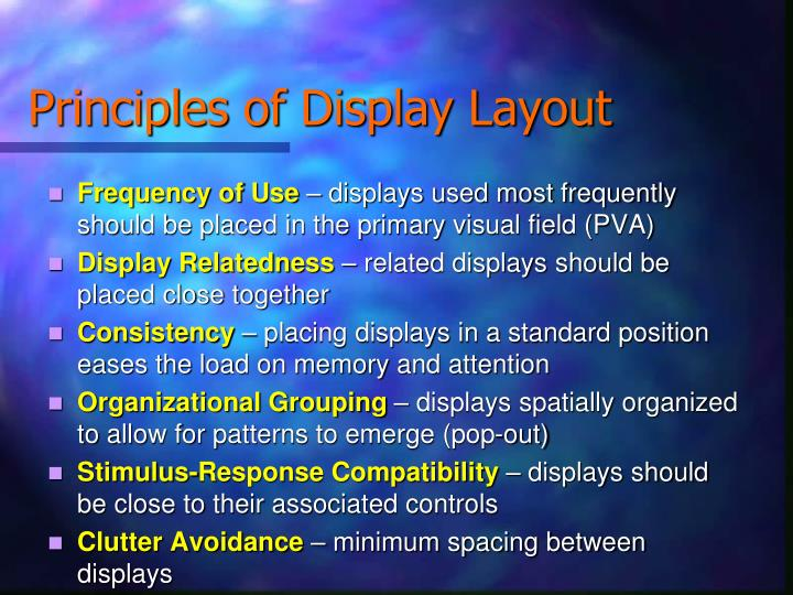 Principles of Display Layout