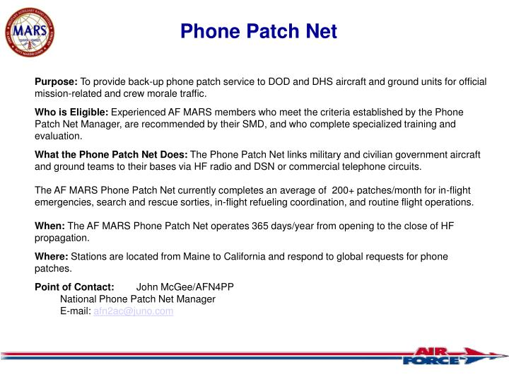 Phone Patch Net