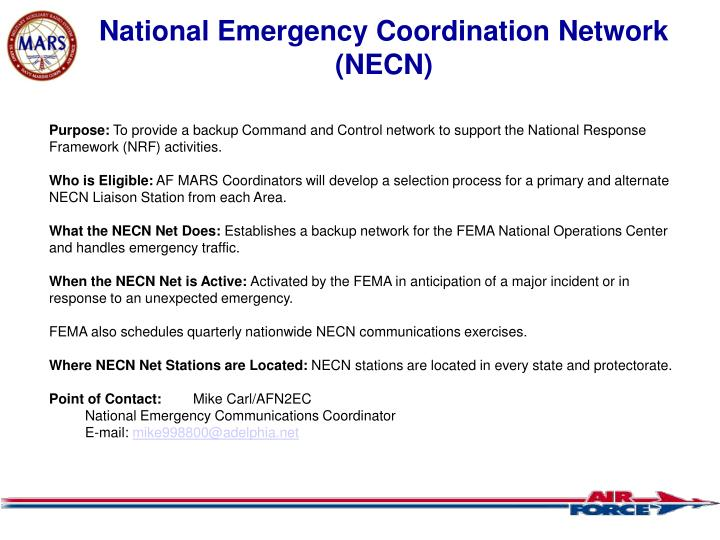National Emergency Coordination Network (NECN)
