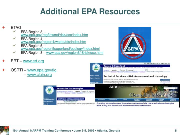 Additional EPA Resources