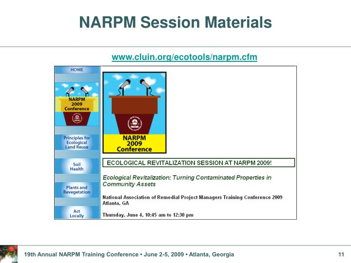 NARPM Session Materials