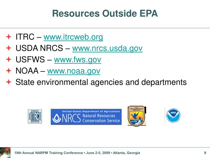 Resources Outside EPA