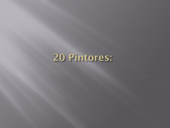 20 Pintores: