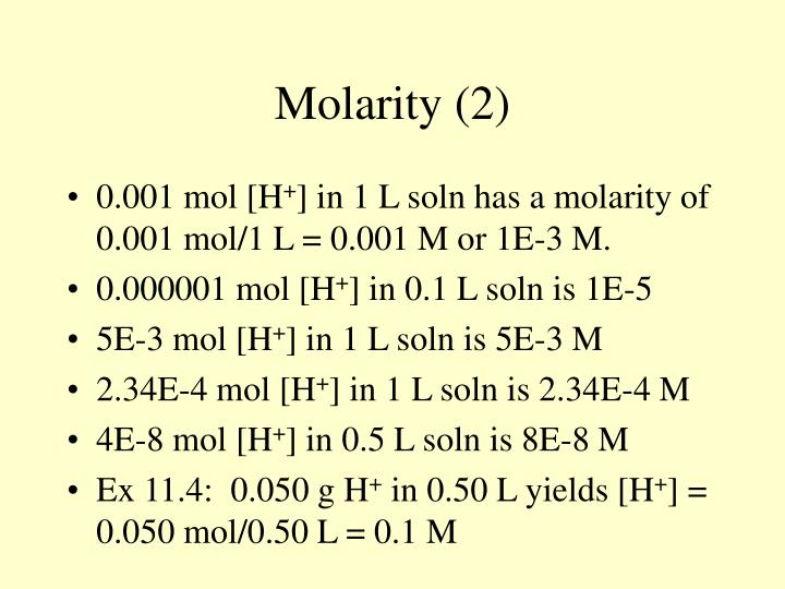 Molarity (2)