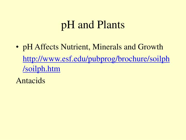 pH and Plants