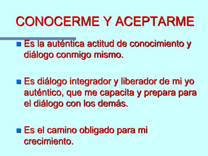 CONOCERME Y ACEPTARME