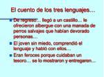 el cuento de los tres lenguajes1