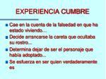 experiencia cumbre