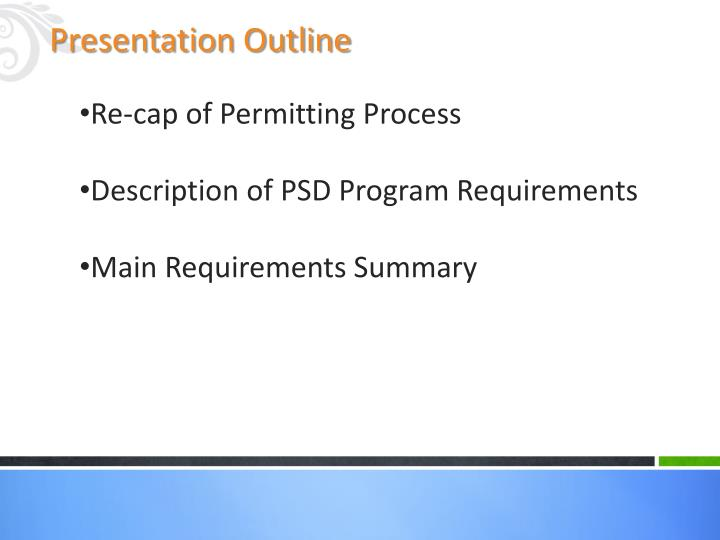 Re-cap of Permitting