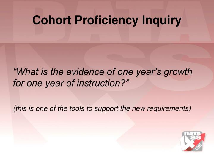 Cohort Proficiency Inquiry