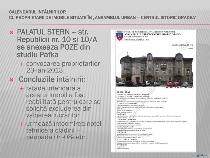 PALATUL STERN – str. Republicii nr. 10 si 10/A