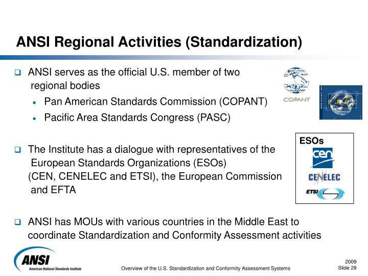 ANSI Regional Activities (Standardization)
