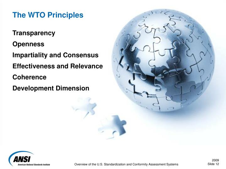 The WTO Principles