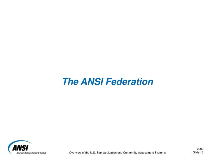 The ANSI Federation