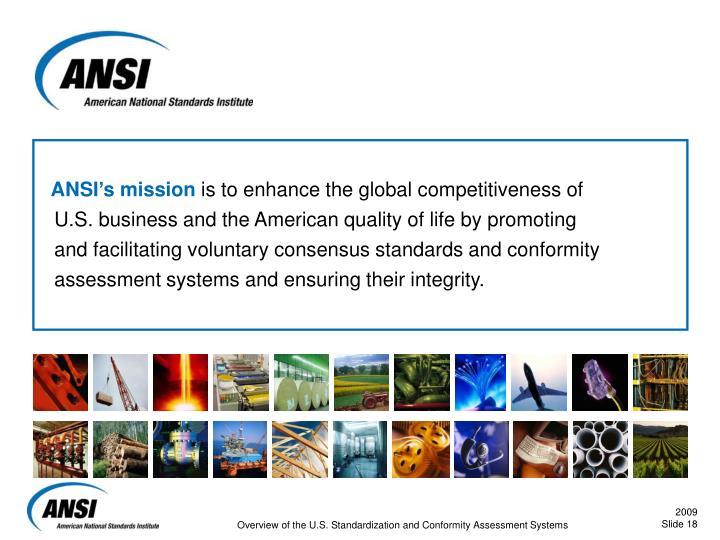 ANSI's mission