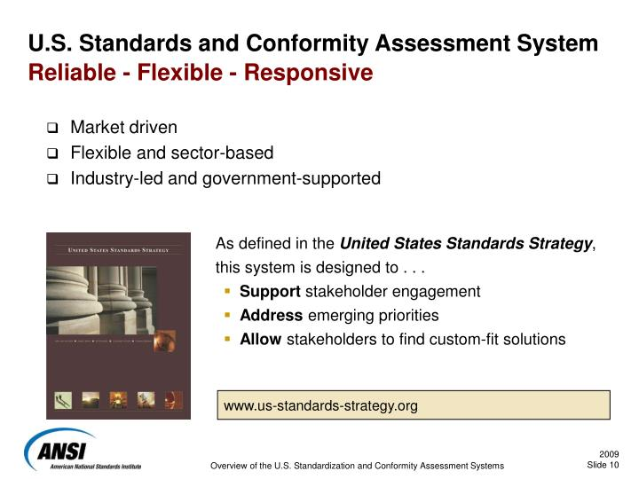 U.S. Standards and Conformity Assessment System