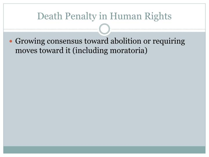 Death Penalty in Human Rights