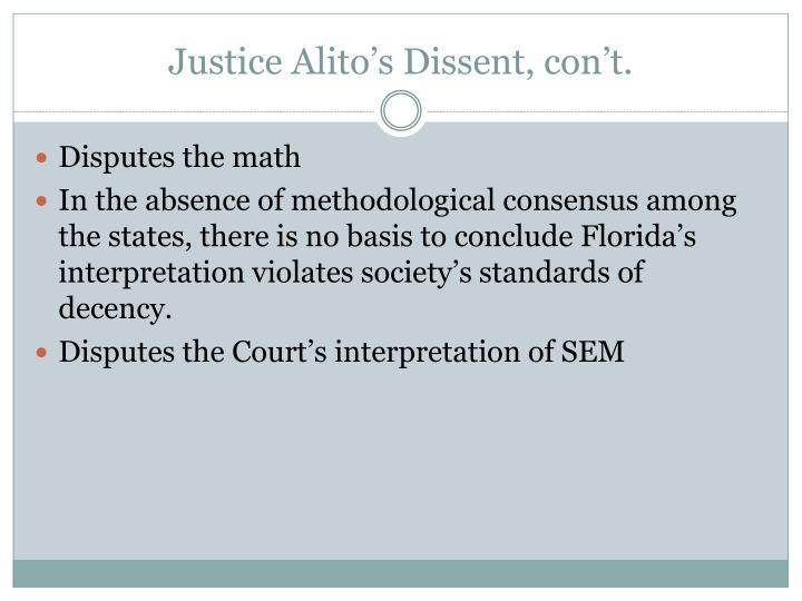 Justice Alito's Dissent,