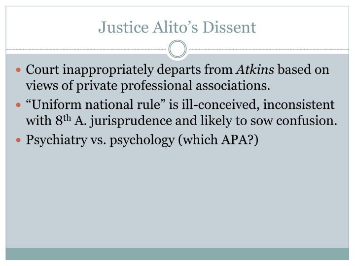 Justice Alito's Dissent