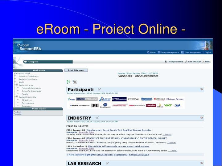 eRoom - Proiect Online -
