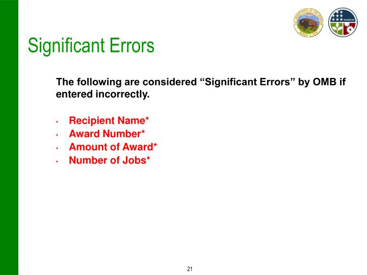 Significant Errors