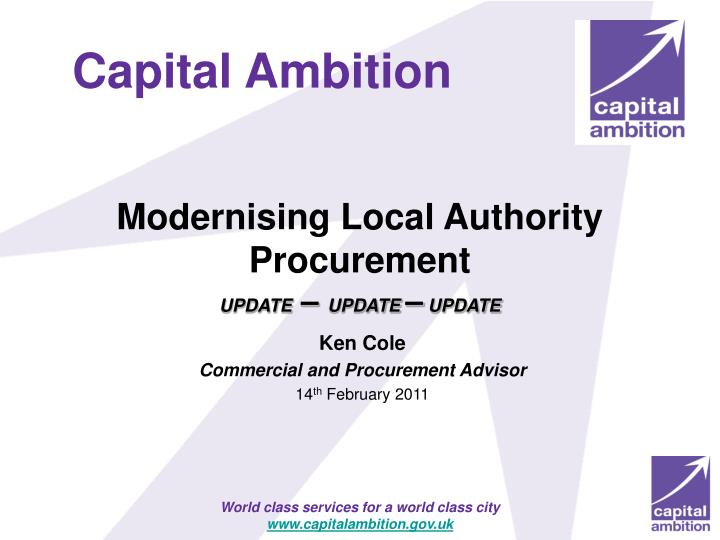 Modernising Local Authority Procurement