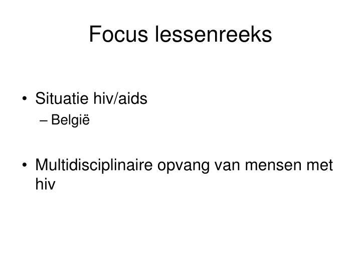 Focus lessenreeks