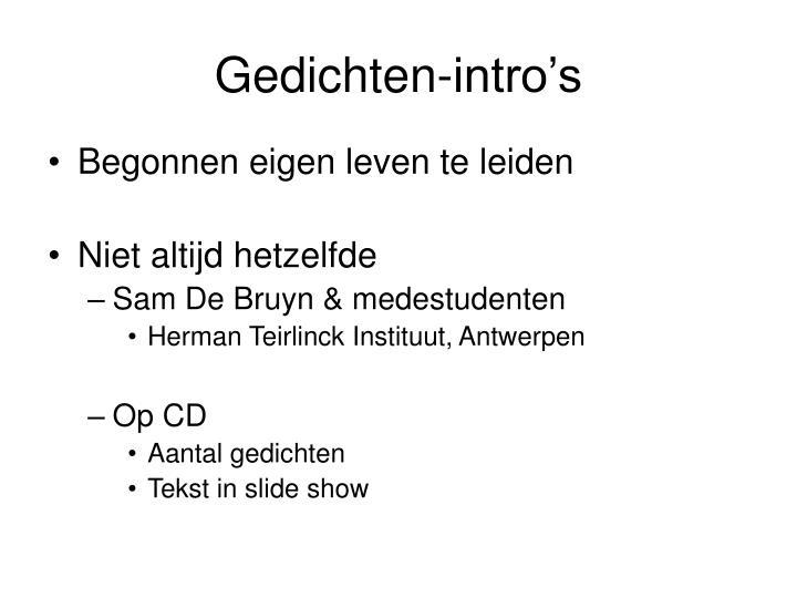 Gedichten-intro's