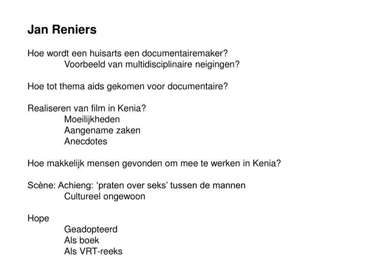 Jan Reniers