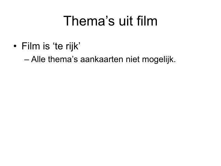 Thema's uit film