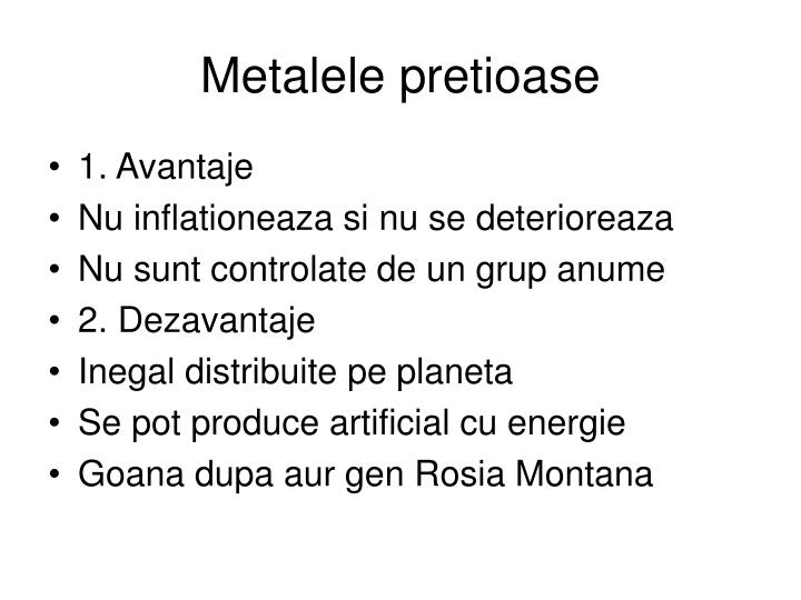 Metalele pretioase