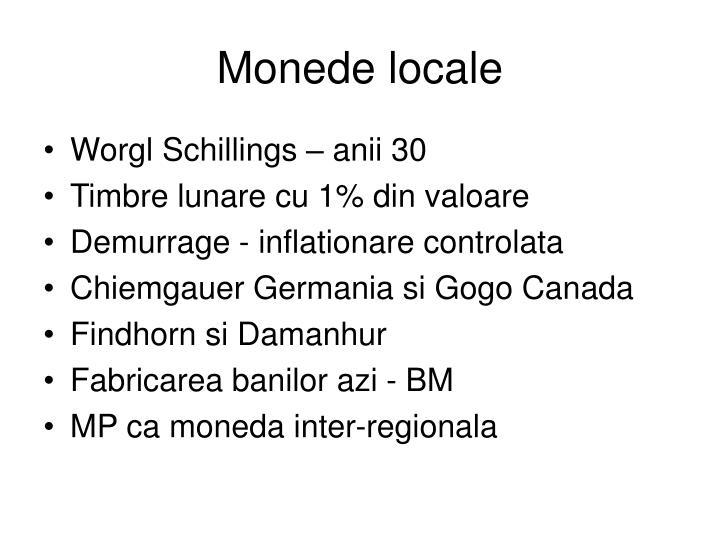 Monede locale