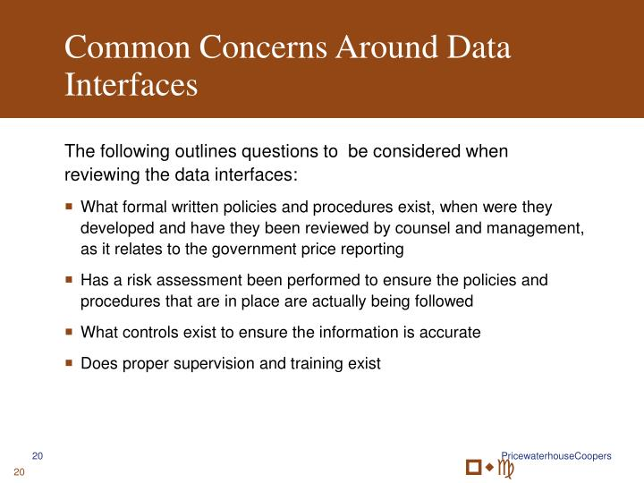 Common Concerns Around Data Interfaces