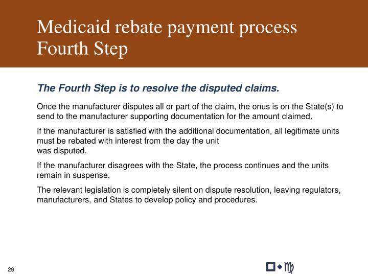 Medicaid rebate payment process