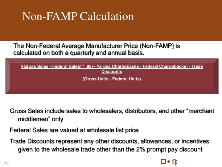 Non-FAMP Calculation