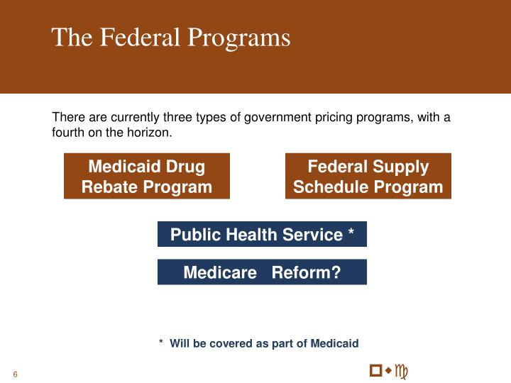 The Federal Programs
