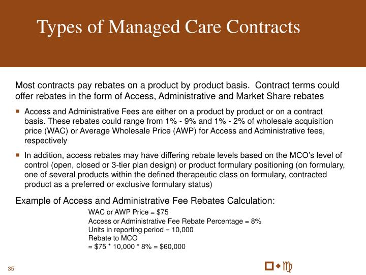 Types of Managed Care Contracts