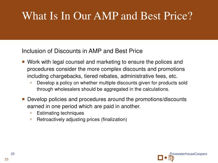 What Is In Our AMP and Best Price?