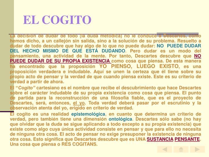 EL COGITO