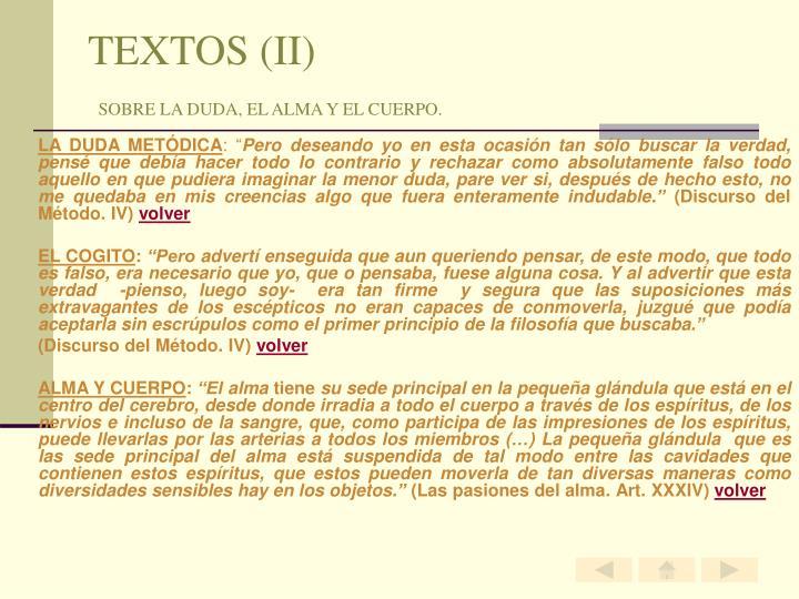 TEXTOS (II)