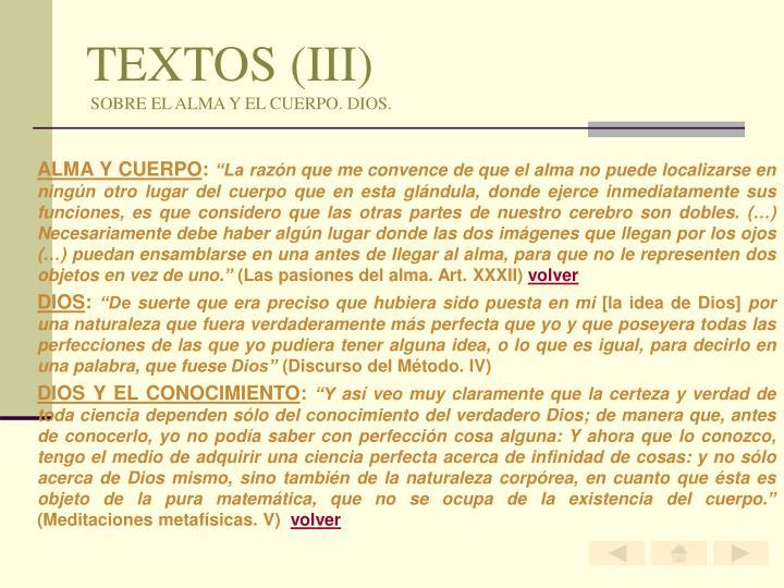 TEXTOS (III)