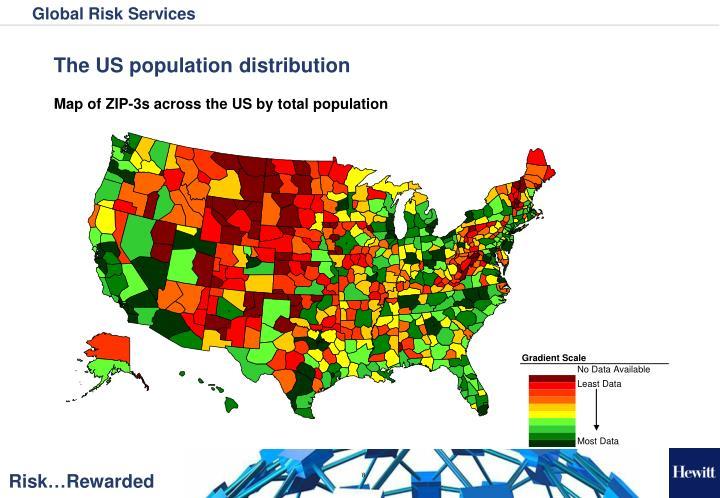 The US population distribution