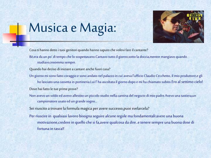 Musica e Magia: