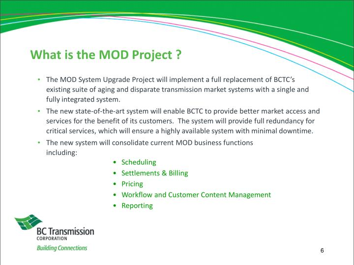 What is the MOD Project ?