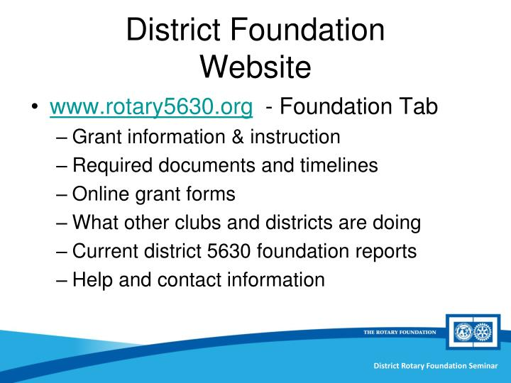 District Foundation
