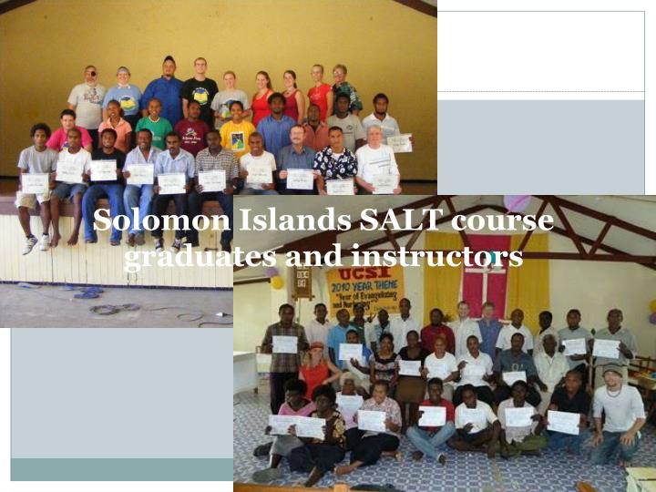 Solomon Islands SALT course graduates and instructors