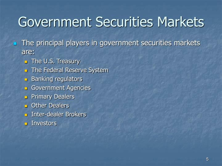 Government Securities Markets