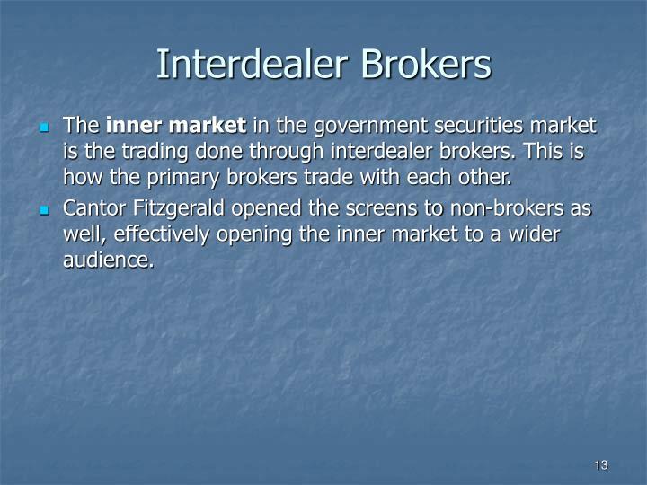 Interdealer Brokers