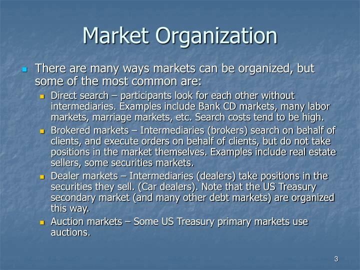 Market Organization