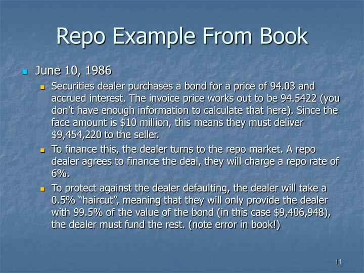 Repo Example From Book